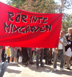 Demonstration mot nedläggning av Mixgården