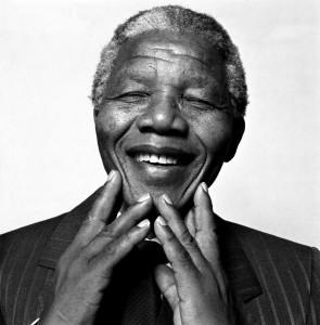 Nelson Mandela. Foto av Hans Gedda.