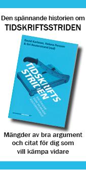 Annons för boken om tidskriftsstriden
