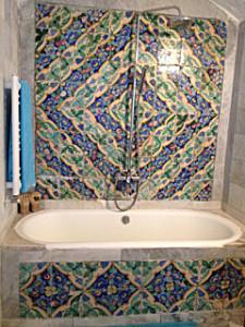 Bild: mosaik från Sidi Bou Said i Tunisien