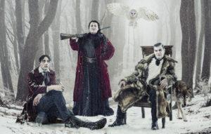 Adam Lundgren, Anna Bjelkerud och Jakob Ekelund I Gösta Berlings saga