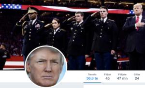 Skärmdump frånTrumps twitter