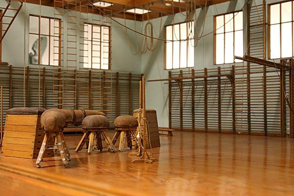 Gymnastiksal. Bild från museet.