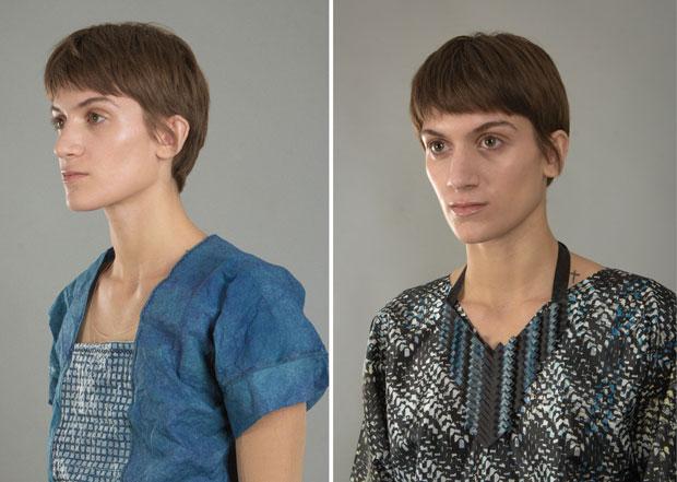 Fotomodeller med nya material.