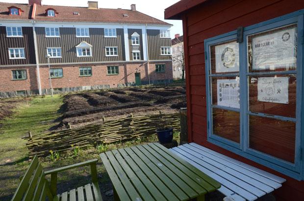 En allmänning i Majorna, Göteborg.