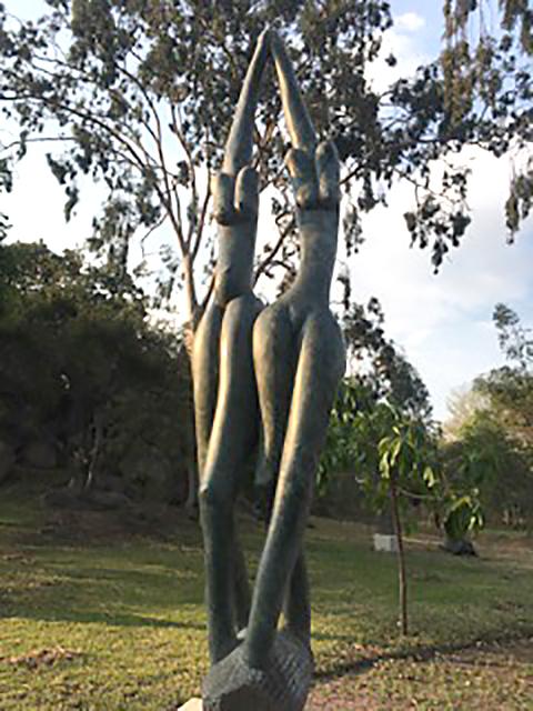 Skulpturparken i Harare.