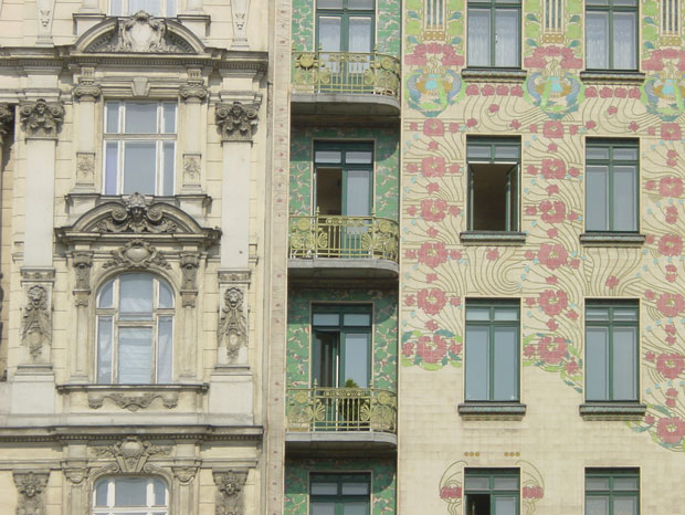 Hus ritat av Otto Wagner, Wien 1899