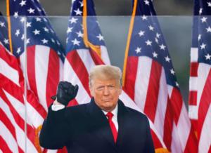 Trump sista (?) massmöte som president.
