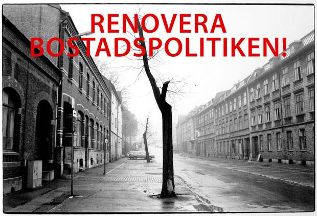 Bild: Stadsdelen Olskroken i Göteborg inför rivningen 1977.