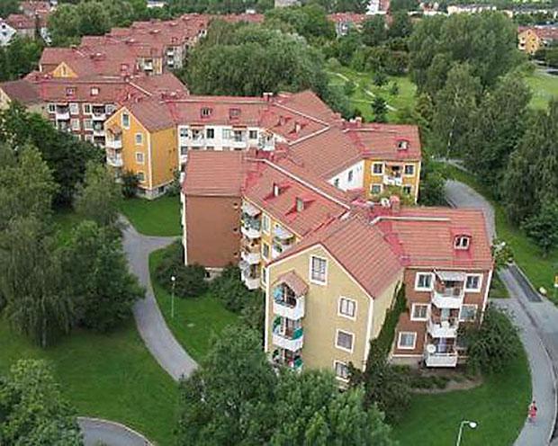 Östra Vintergatan i Stjärnhusen i Örebro.