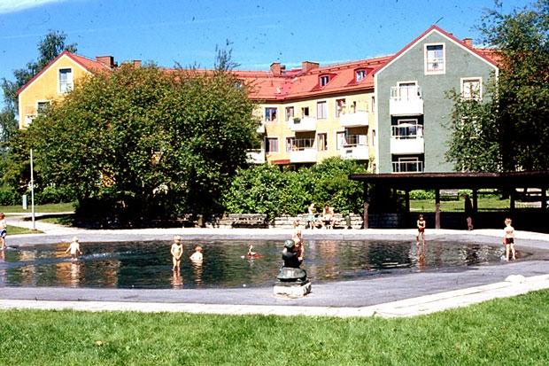 Plaskdammen på Östra Vintergatan i Örebro.