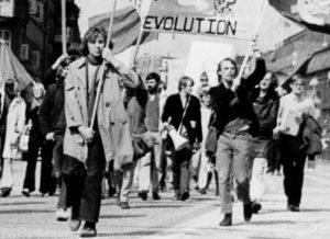 Demonstration i Malmö inspirerad av 1968-rörelsen
